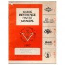 Original 1982 ESA Quick Reference Parts Manual No. ESA 162  (Vintage Collectible)