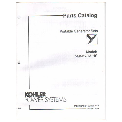 Original 1993 Kohler Power Parts Catalog Portable Generator Sets Models: 5MM / 5CM-HS No. TP-5126