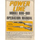 Original 1984 PowerLine Model 880-881 Operation Manual Form Part No. 35179 (Vintage Collectible)