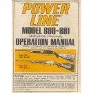 Original 1984 PowerLine Model 880-881 Operation Manual Form Part No. 35179 (Vintage Collectible)