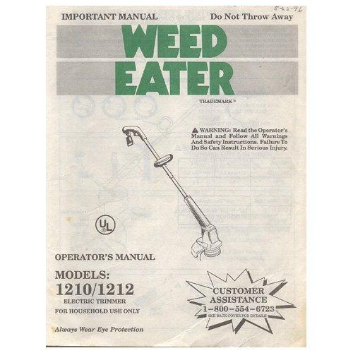 Original 1993 Weed Eater Operator U2019s Manual Models  1210