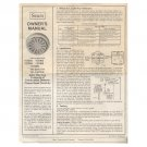 Original 1977 Sears Owner's Manual No. 957001, 957002, 957003, 957004, 950775 Form No. 315-023030
