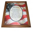 Old Glory Themed Framed Wall Art - Home Interiors and Gifts No. 11777-DS (New in Stock)
