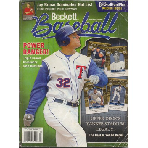 Original August 2008 Issue #37 Beckett Baseball Pricing Guide (Collectible - Very Good Condition)