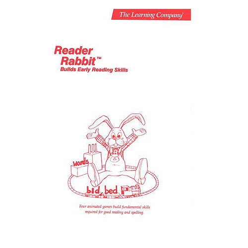 Original 1986 The Learning Company Reader Rabbit Builds Early Reading Skills Manual (Vintage)