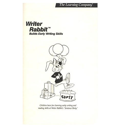 Original 1986 The Learning Company Writer Rabbit Builds Early Writing Skills Manual (Vintage)