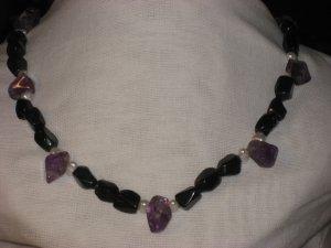 #6--Amethyst, Obsidian, Pearl
