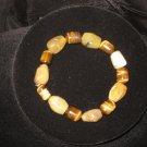 #104 Yellow Opal, Tiger Eye bracelet
