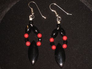 #1025--Black Onyx, Red Mountain Jade