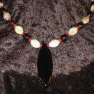 #40--Amazonite, Coral, Smoke Quartz, Obsidian Arrow