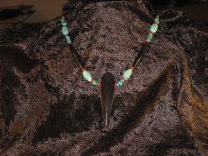#41--Turquoise, Coral, Buffalo Bone, Arrow