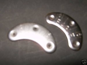 metal heel  & toe plates and nail, 4 total, shoe repair
