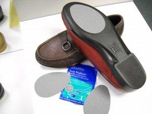 2 PAIR slip resistant soles,non-skid pads,shoe repair,adhesive