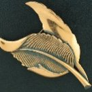 Textured Copper Leaf Brooch BRO2026