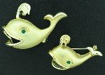 Gold Tone Whale Scatter Pin Set BRO2157