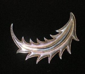 MMA 1987 Silver Tone Feather Brooch BRO1006BC