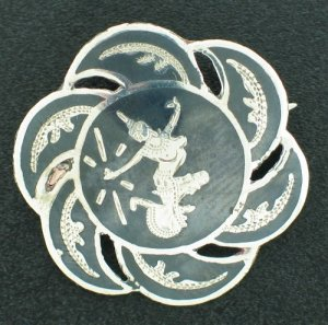 Vintage Signed SIAM Sterling Pin Sbro2002