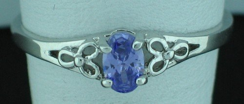 10K White Gold Amethyst Ring Size 10 Srin2005