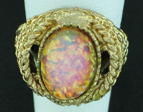 Pink Foil Stone Costume Ring Rin2007