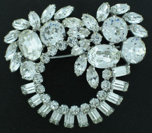 Huge Clear Rhinestone Brooch Bro2027