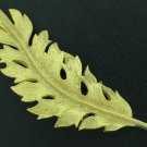 Coro 1961 Detailed Vintage Gold Tone Leaf Brooch Bro2142