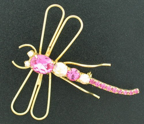 Brilliant Pink Contempary Dragonfly Pin Bro2033