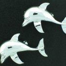 Vintage Silver Tone Dolphin Scatter or Collar Pins Bro2159