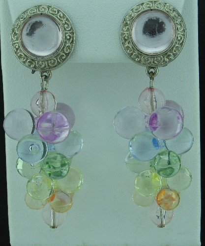 Pastel Grape Cluster Earrings Ear2035