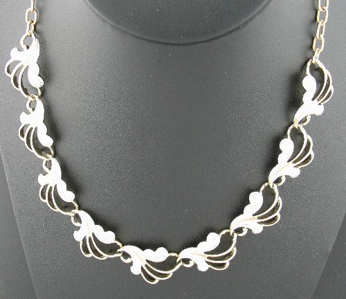 Sarah Coventry Two Tone Link Necklace nec2053