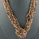 Torsade Like Sead Bead Necklace and Hook Earrings Set2032