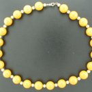 Deep Yellow and Gold Beaded Necklace Nec1017jen