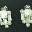 Signed Garne Bagette and Round Rhinestone Earrings Ear2074