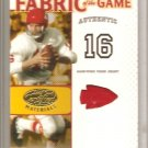 2007 Leaf Certified Len Dawson FOTG #20/25 Kansas City Chiefs
