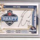 2008 Prestige Erik Ainge NFL Draft Patch Auto #116/250