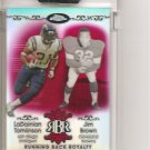 2007 Topps Chrome Ladanian Tomlinson/Jim Brown Running Back Royalty Red Ref. #1/10