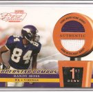 2002 Playoff POTG Randy Moss Dual Patch 1st Down #47/50