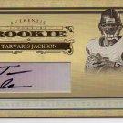 2006 National Treasures Tarvaris Jackson Auto Rookie #26/30