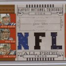 2008 National Treasures Manning / Ward / Witten Triple Jersey #9/25