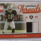 2009 Donruss Elite Randy Moss Throwback Threads Dual Triple Color Patch #16/50