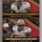 2009 Bowman Draft Malcolm Jenkins / James Laurinaitis All Stars Gold #10/10