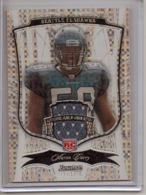 2009 Sterling Aaron Curry Refractor Jersey RC #2/5