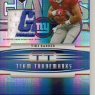 2006 Limited Tiki Barber Team Trademarks Logo Patch #27/30