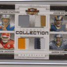 2009 Threads Stafford / Smith / Jackson / Curry Quad 7 Clr Patch #2/25