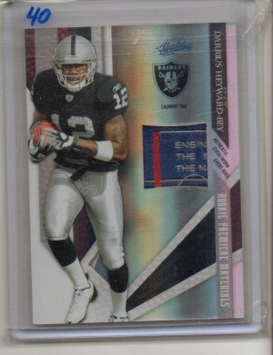 2009 Absolute Darrius Heyward-Bey Laundry Tag Rookie #3/5