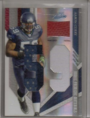 2009 Absolute Aaron Curry RPM Ball & 3 Clr Patch Rookie #4/10