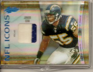 2010 Absolute Junior Seau NFL Icons 2 Color Patch #11/50