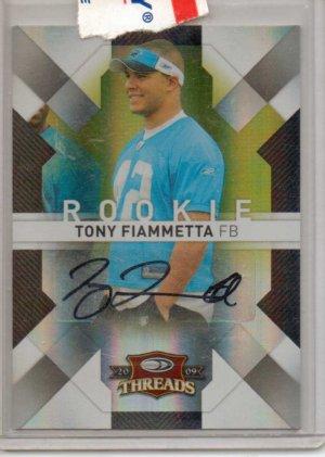2009 Threads Tony Fiammetta Gold ROokie Auto #7/10