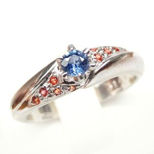 925 Sterling Silver Ring With Natural Fancy Sapphire