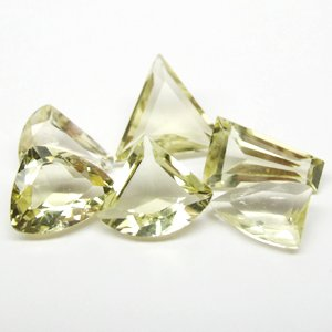 Natural Lamon Quartz 6 pieces / 14.00 ct
