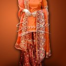 Orange & Maroon Wedding Dress 047